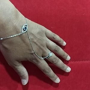 Jewelry - 🔥Evil Eye 925 sterling silver bracelet and ring.